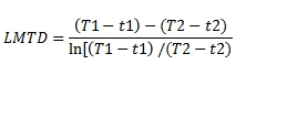 LMTD parallel flow equation