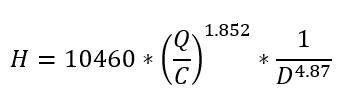 Hazen williams equation 2