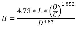 Hazen-williams equation 1