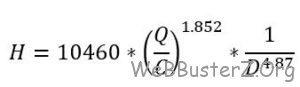 Hazen williams equation 2