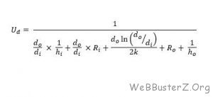 overall heat transfer coefficient (fouled conditions)